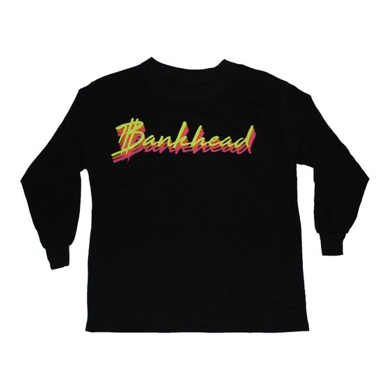 Image of Kids black Bankhead Signature script long sleeve