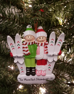 Image of Skier couple Ornament