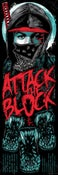 Image of ATTACK THE BLOCK - Blacklight art print