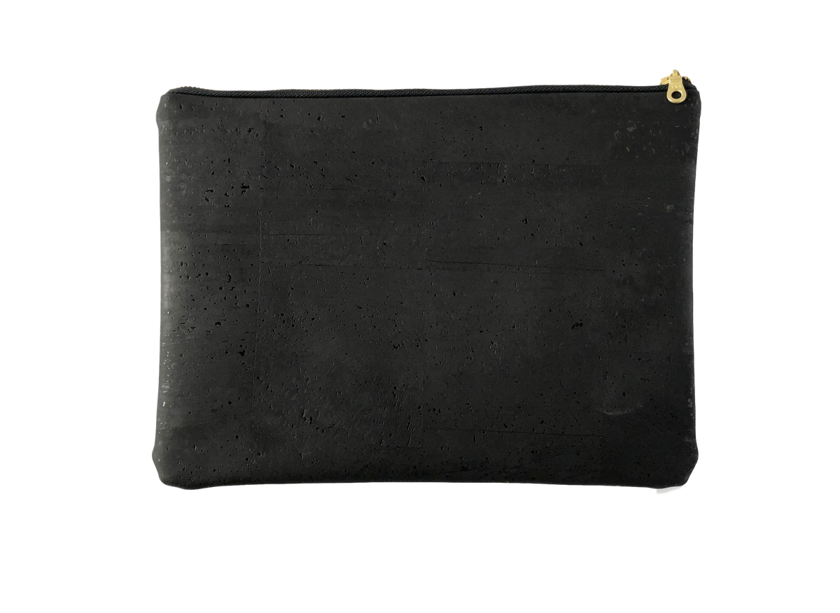 Image of Gloria Clutch In Black Cork