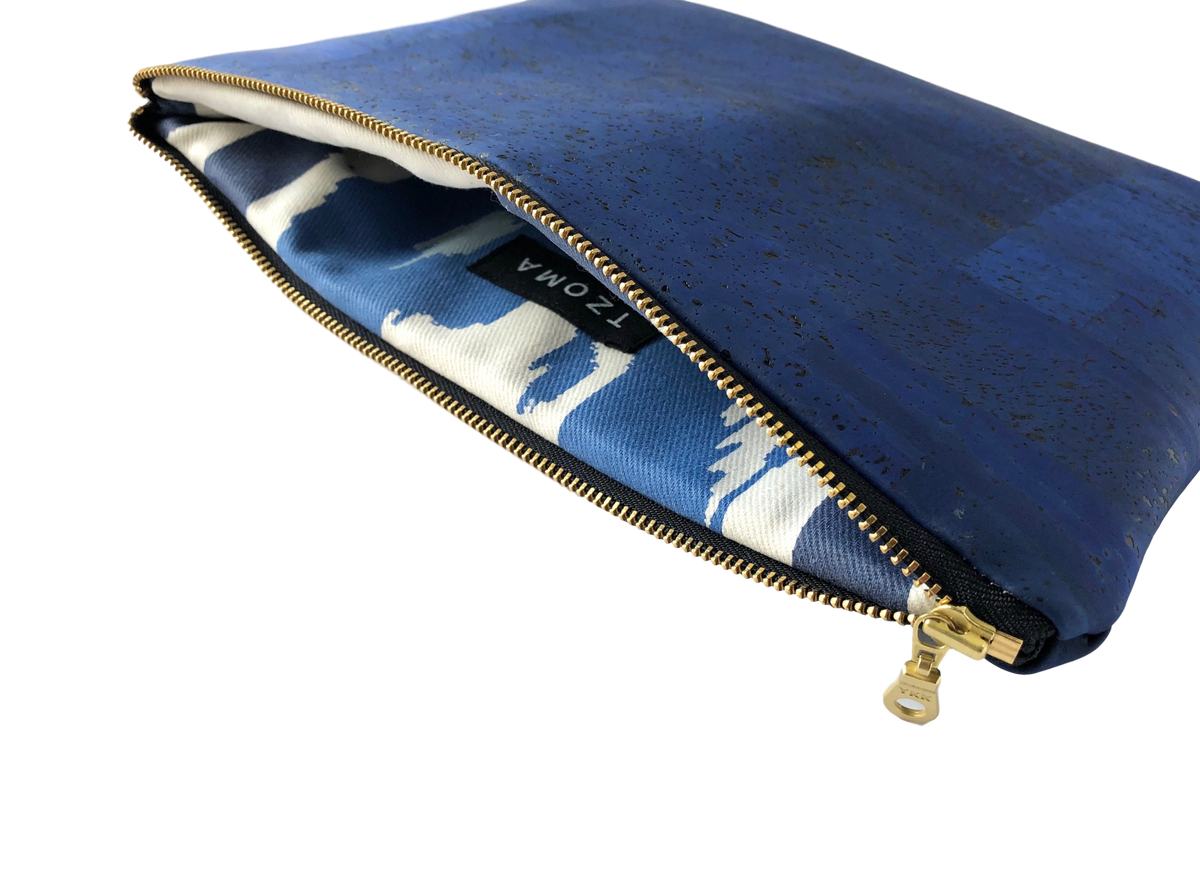 Image of Gloria Clutch In Blue Cork