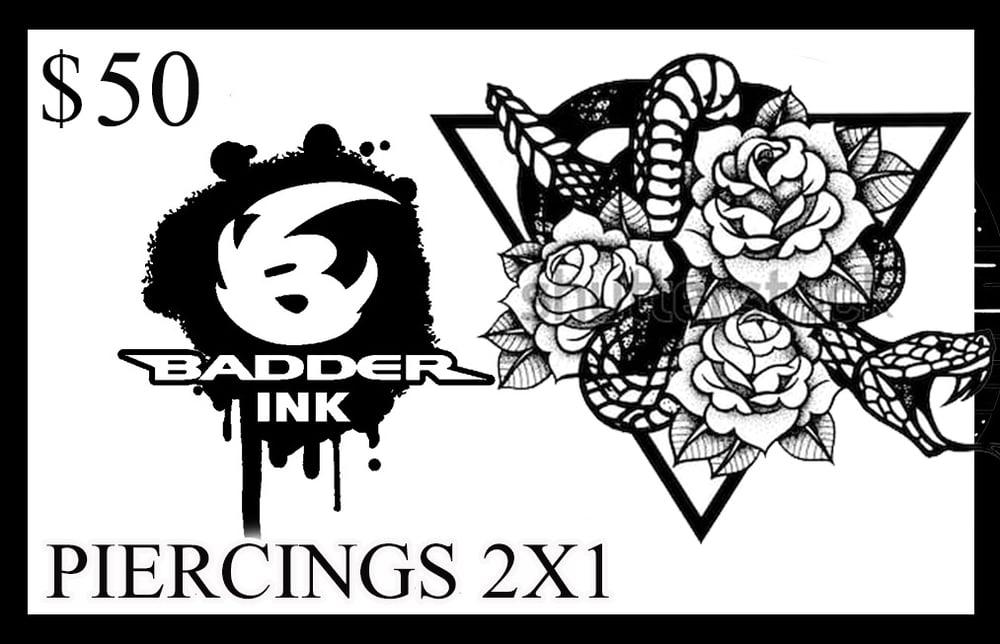 Image of $50 piercing 2x1