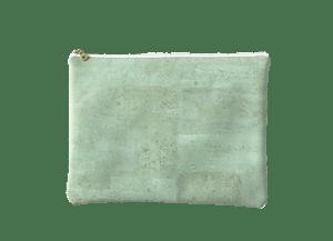 Image of Gloria Clutch In Mint Green Cork