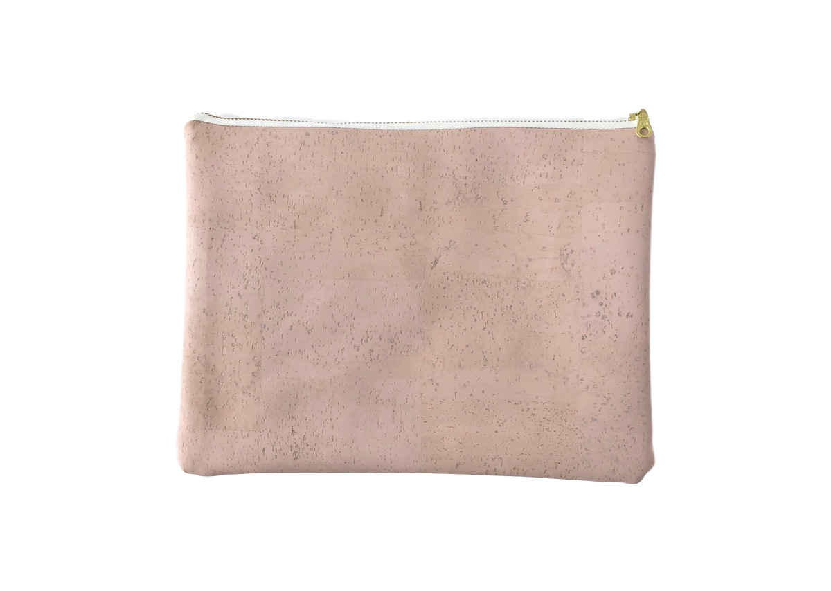 Image of Gloria Clutch In Pink Cork