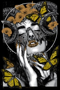 Image of HECATE - art print - Gold variant