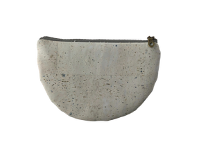 Image of Paula Half Moon Pouch In Grey Cork