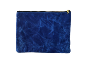 Image of Gloria Clutch In Cobalt Blue Waxed Canvas