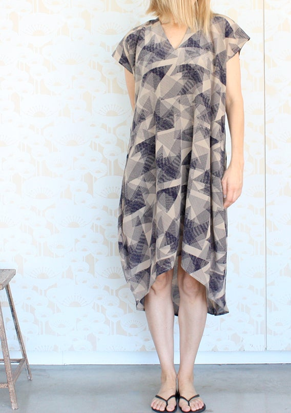 Image of Origami Print Day Dress
