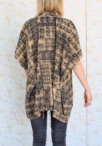 Image of Row Print Kimono Top