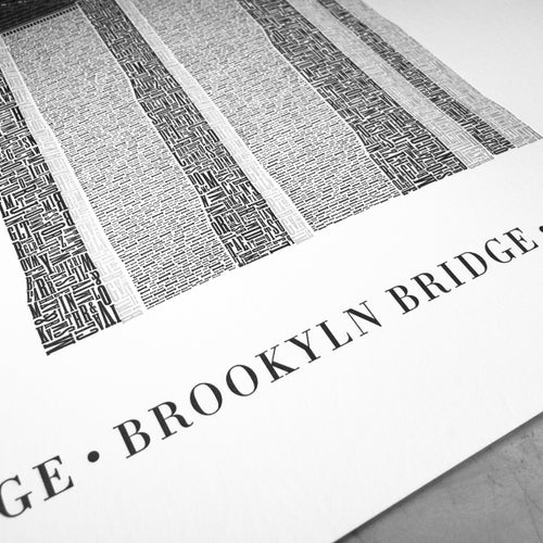Image of Brooklyn Bridge Reimagined –Typo Edition