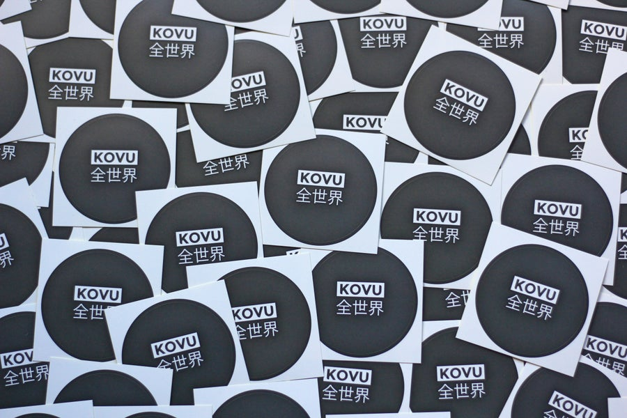 "Image of ""KOVU WorldWide"" Sticker 10 Pack"