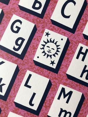 Image of Alphabet Silk Screen Print