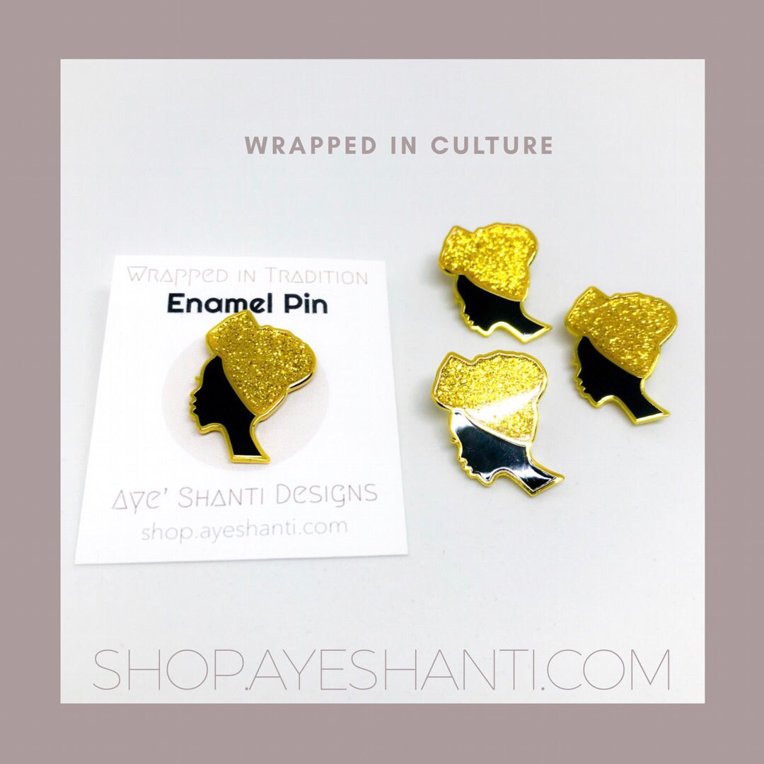 Image of Wrapped in Tradition Enamel Pin