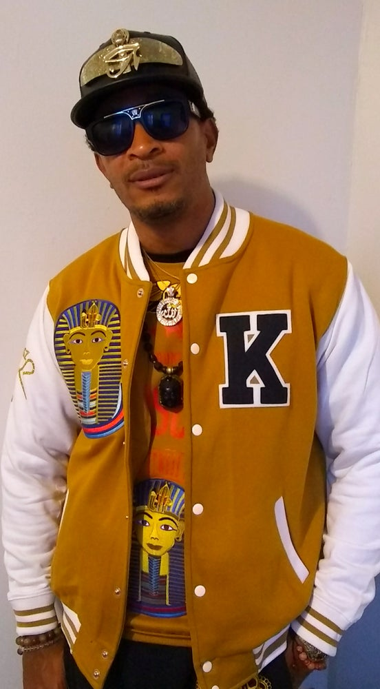 Image of King Tut Varsity Jacket _Wheat