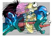 Image of split head strictly ltd edition print a2