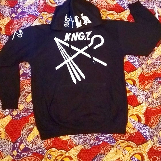 Image of KNGZ CROOK & FLAIL GLITTER HOODY