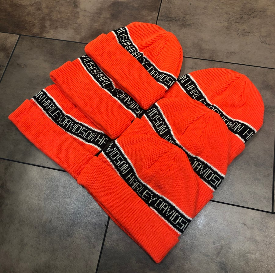 Image of Orange Vintage Chopper Beanie