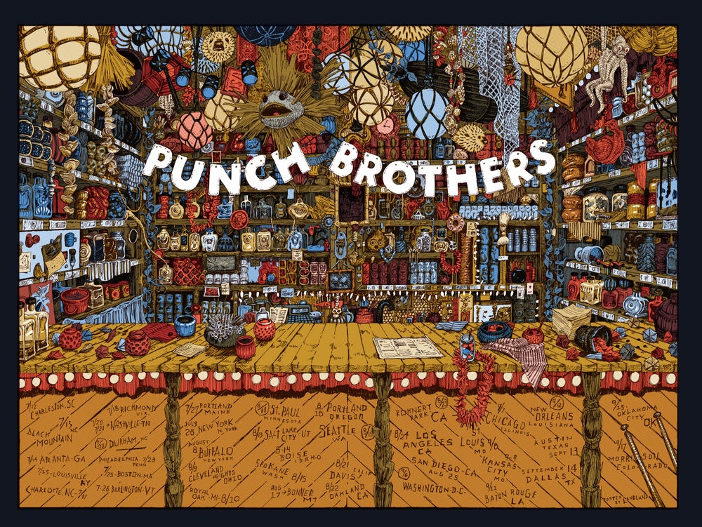 "Punch Brothers (2018 U.S. Tour) • L.E. Official Poster (18"" x 24"")"