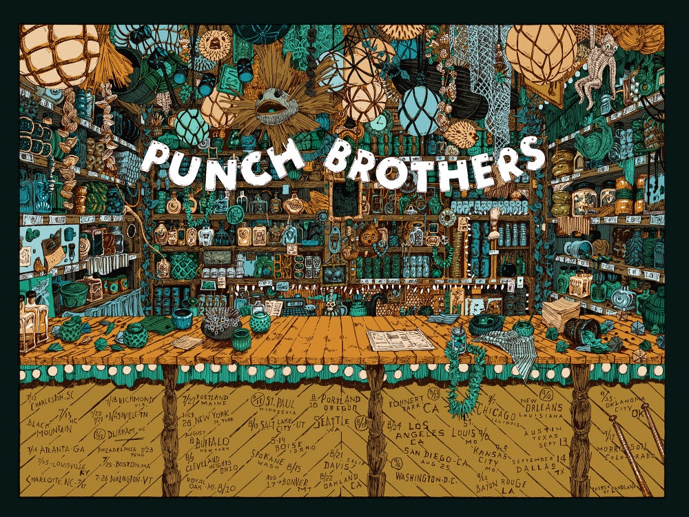 "Image of Punch Brothers (2018 U.S. Tour) • L.E. Official Poster (18"" x 24"")"