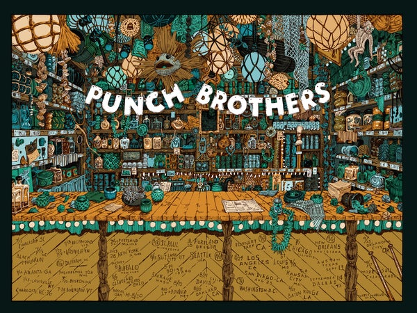 "Image of NEW! Punch Brothers (2018 U.S. Tour) • L.E. Official Poster (18"" x 24"")"