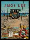 """Amos Lee (2018 U.S. Tour) • L.E. Official Poster (18"""" x 24"""")"""