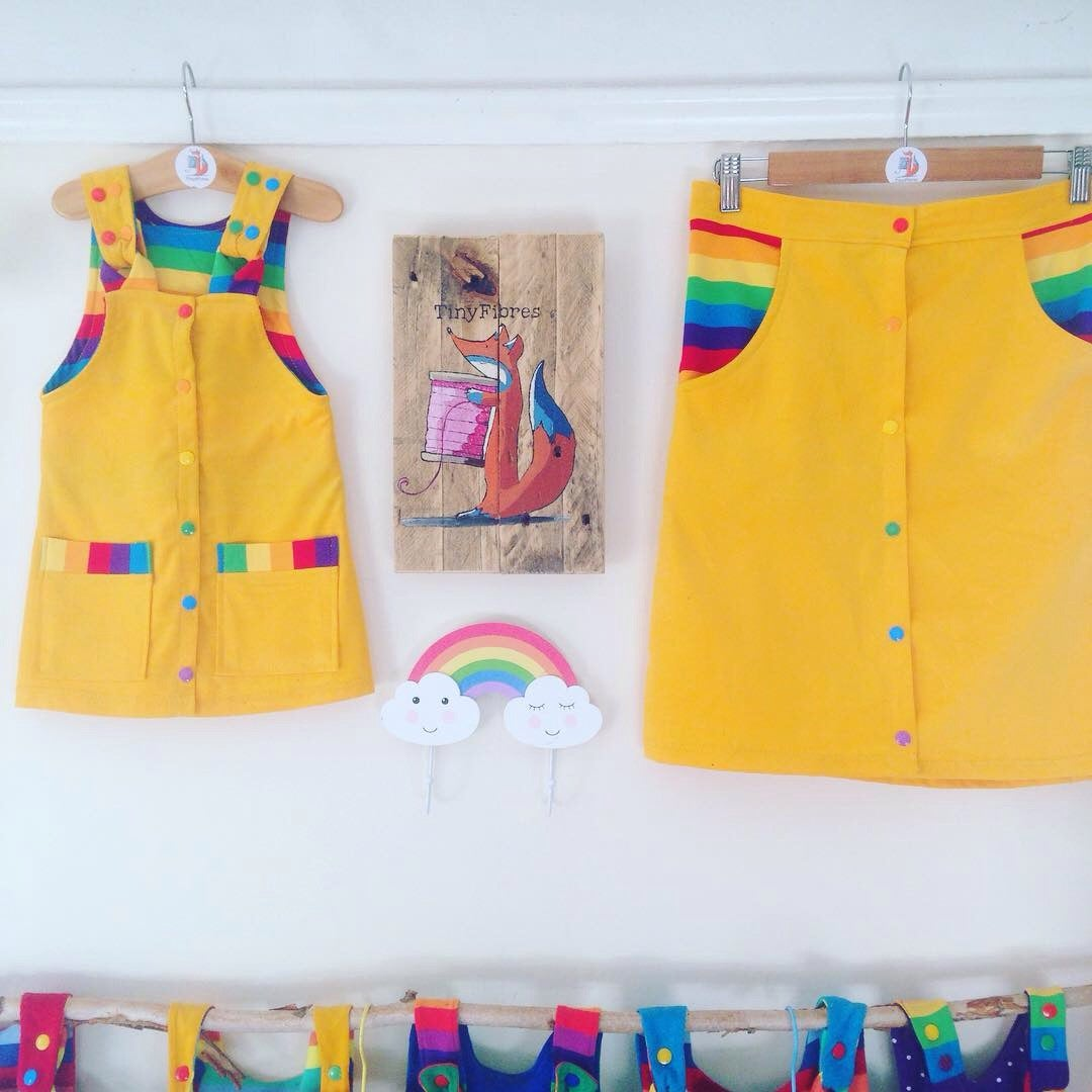 Yellow Rainbow Dress