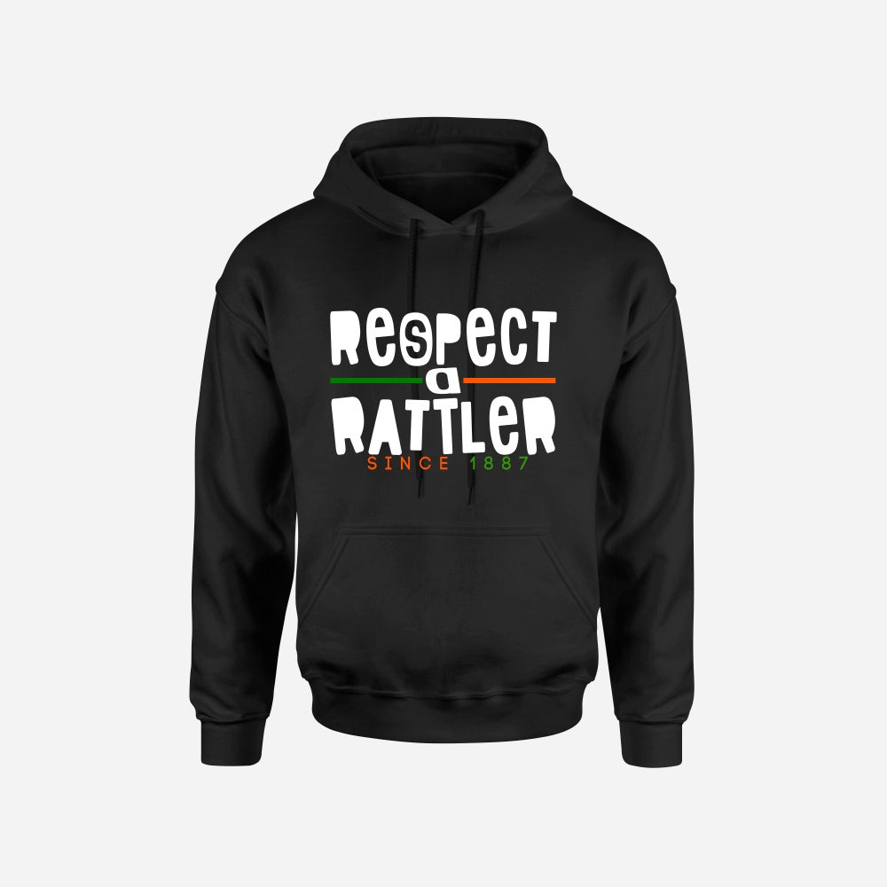 Image of RESPECT A RATTLER HOODIES