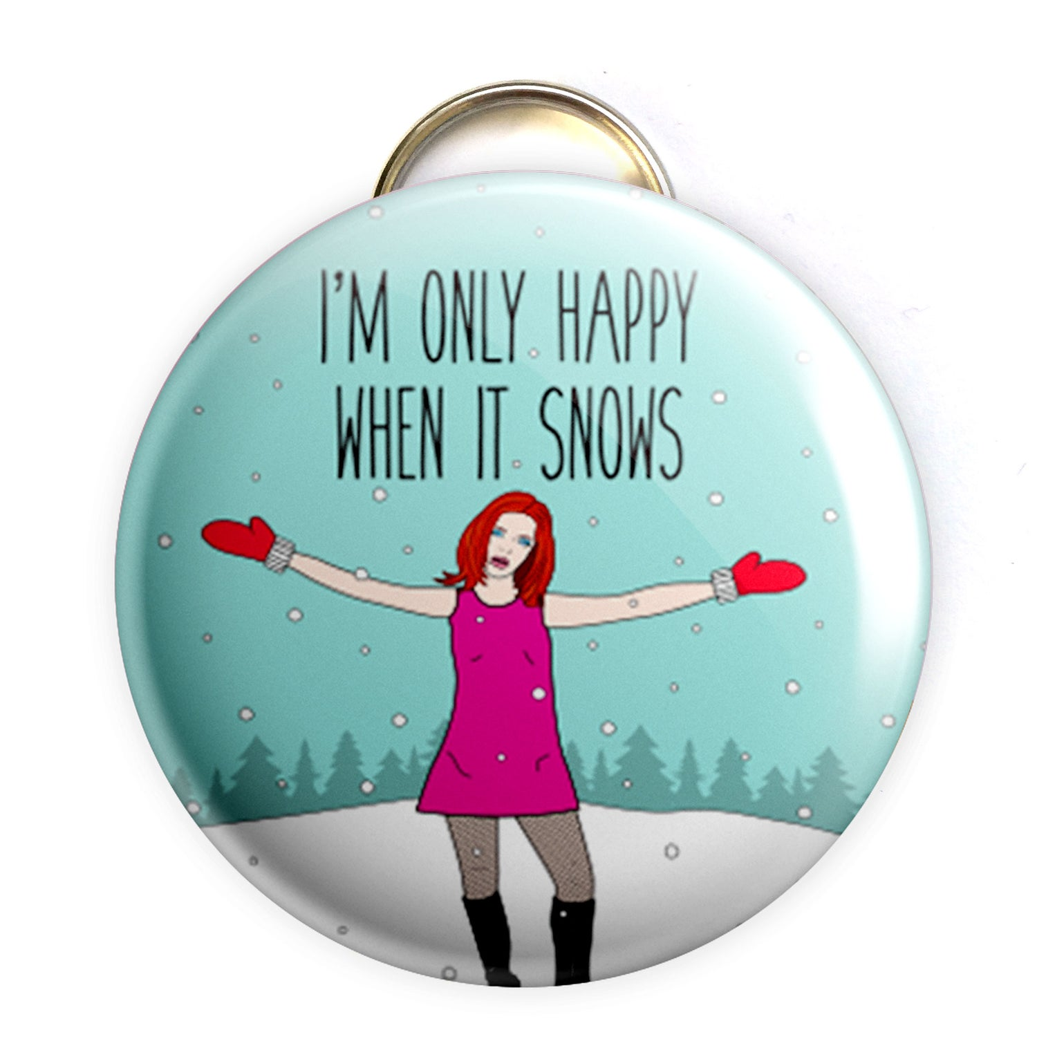 Image of Shirley Manson Holiday Bottle Opener/Button