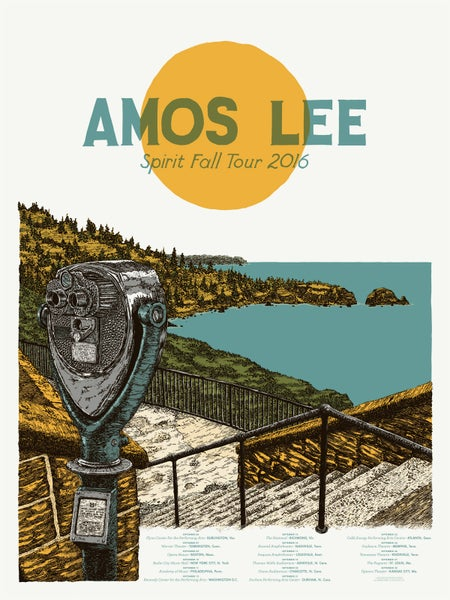 "Image of Amos Lee (September 2016) • Limited Edition Official Poster (18"" x 24"")"