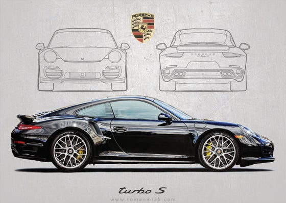 Image of Porsche 911 Turbo S Poster Print