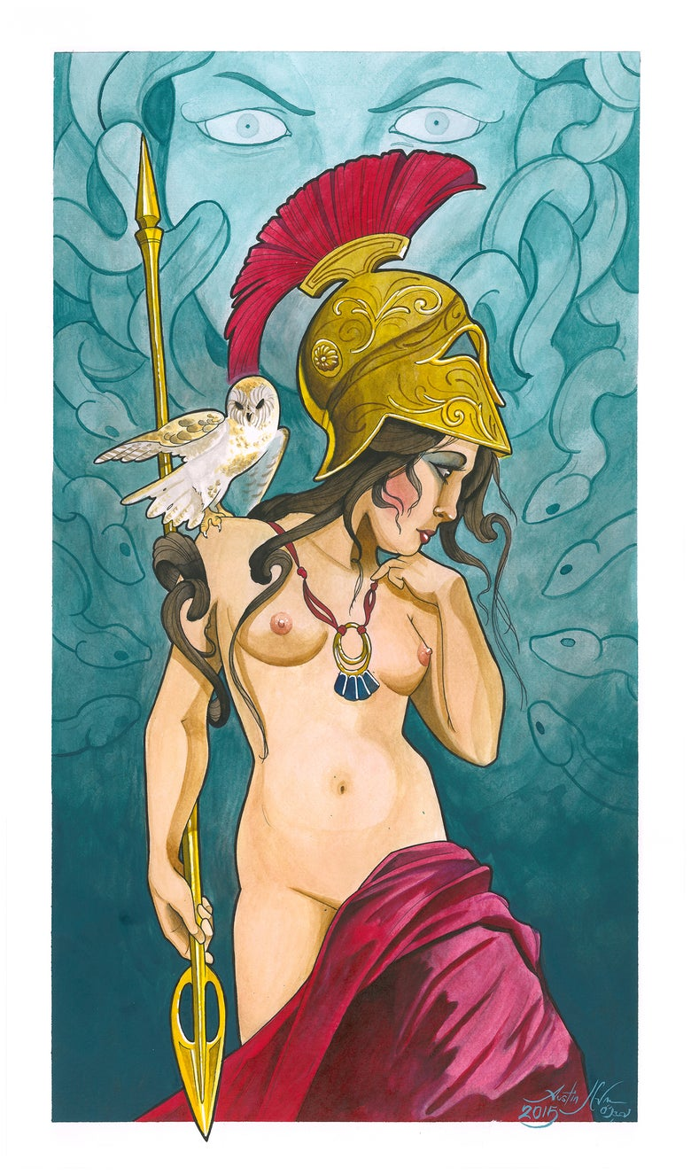 "Image of ""Athena and the Gorgon"" (Print)"