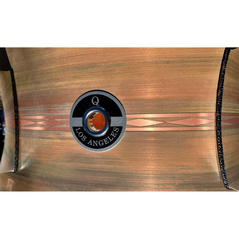Image of 6x14 Copper snare with Maple re-rings - Custom Patina