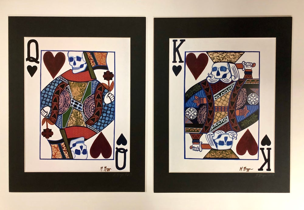 Image of King & Queen Matted Print
