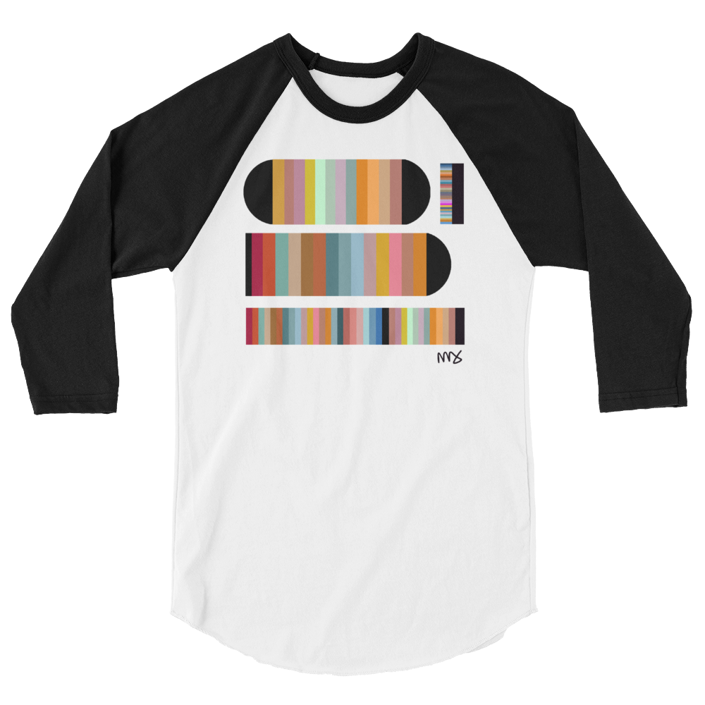 Image of Unisex 3/4 Sleeve 'Color Study' T-Shirt
