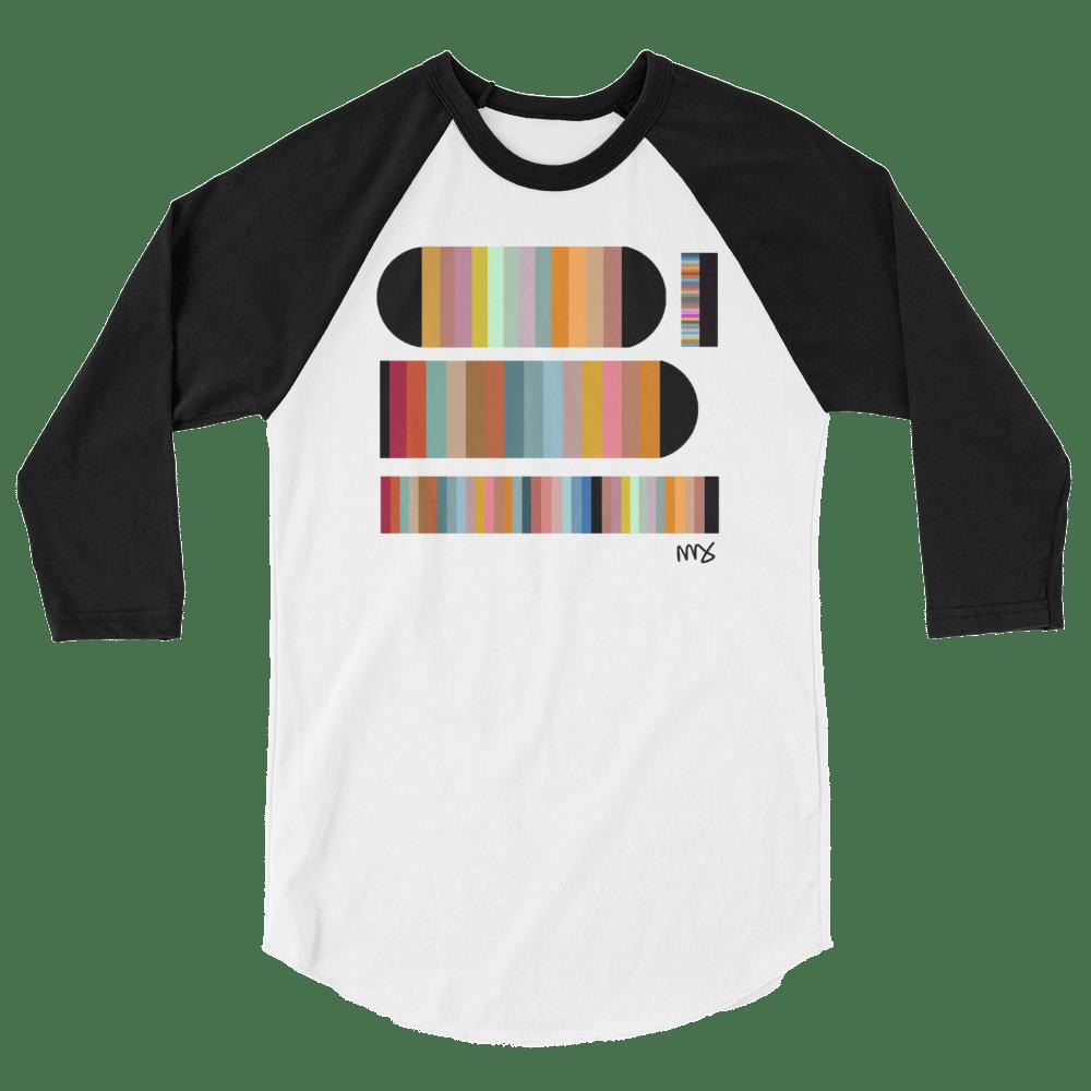 Image of Unisex 3/4 Sleeve 'Color Study' T-Shirt