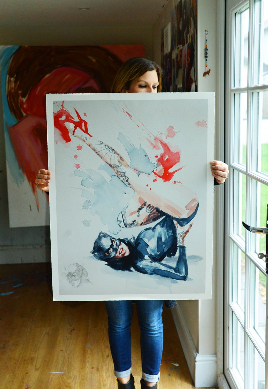 Image of EXTREMELY LIMITED HAND EMBELISHED 'RED SHOES' Giclee Print