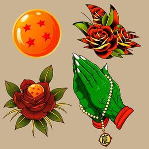 Image of DBZ Sticker Packs