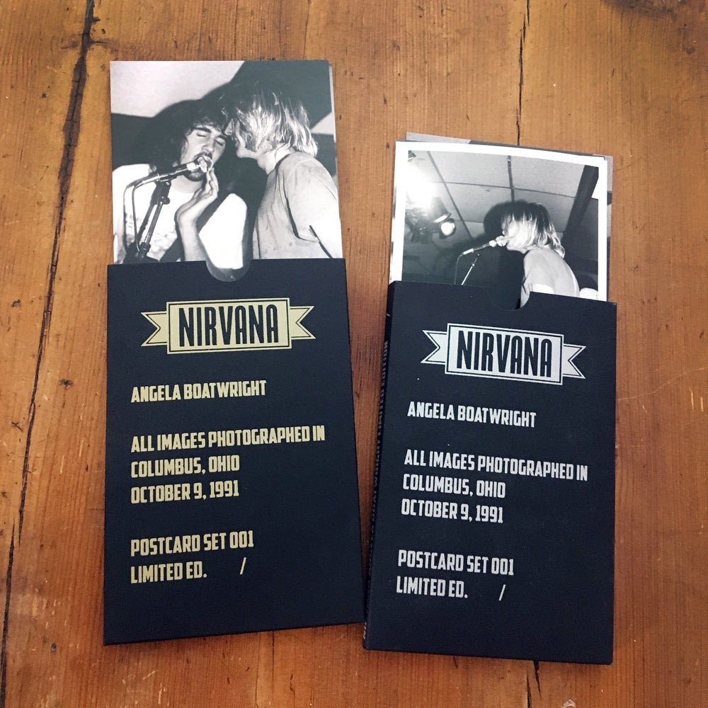 Image of Nirvana POSTCARD set LIMITED EDITION w / slipcase