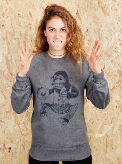 Monkey Grey Sweatshirt (Organic)