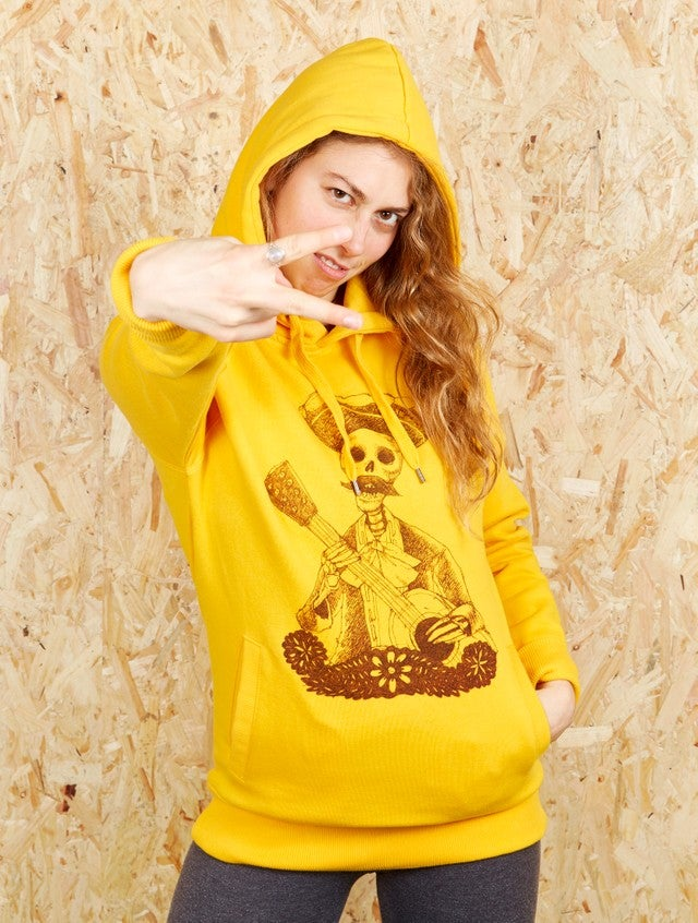 Image of Day of the Dead Unisex Gold Hood