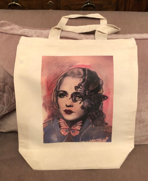 Image of Madam butterfly tote bag
