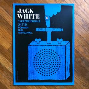 Image of Jack White poster -  Warsaw, Poland 2018