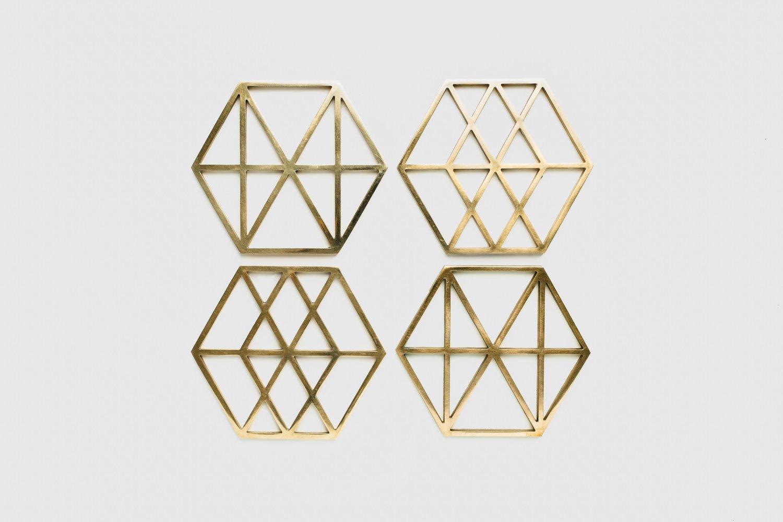 Image of Metal Bauhaus Trivets