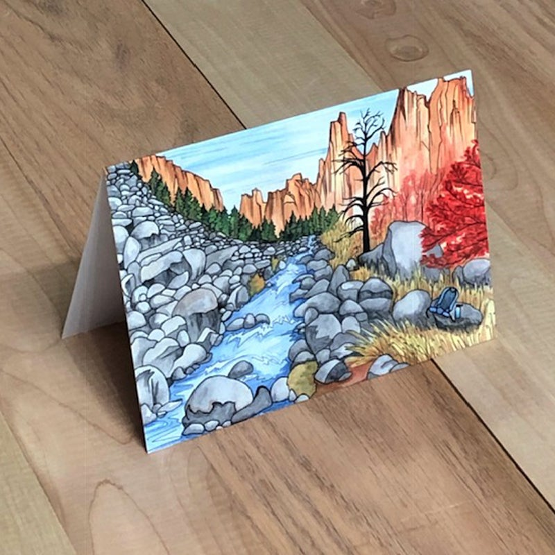 Image of Smith Rock Gorge greeting card