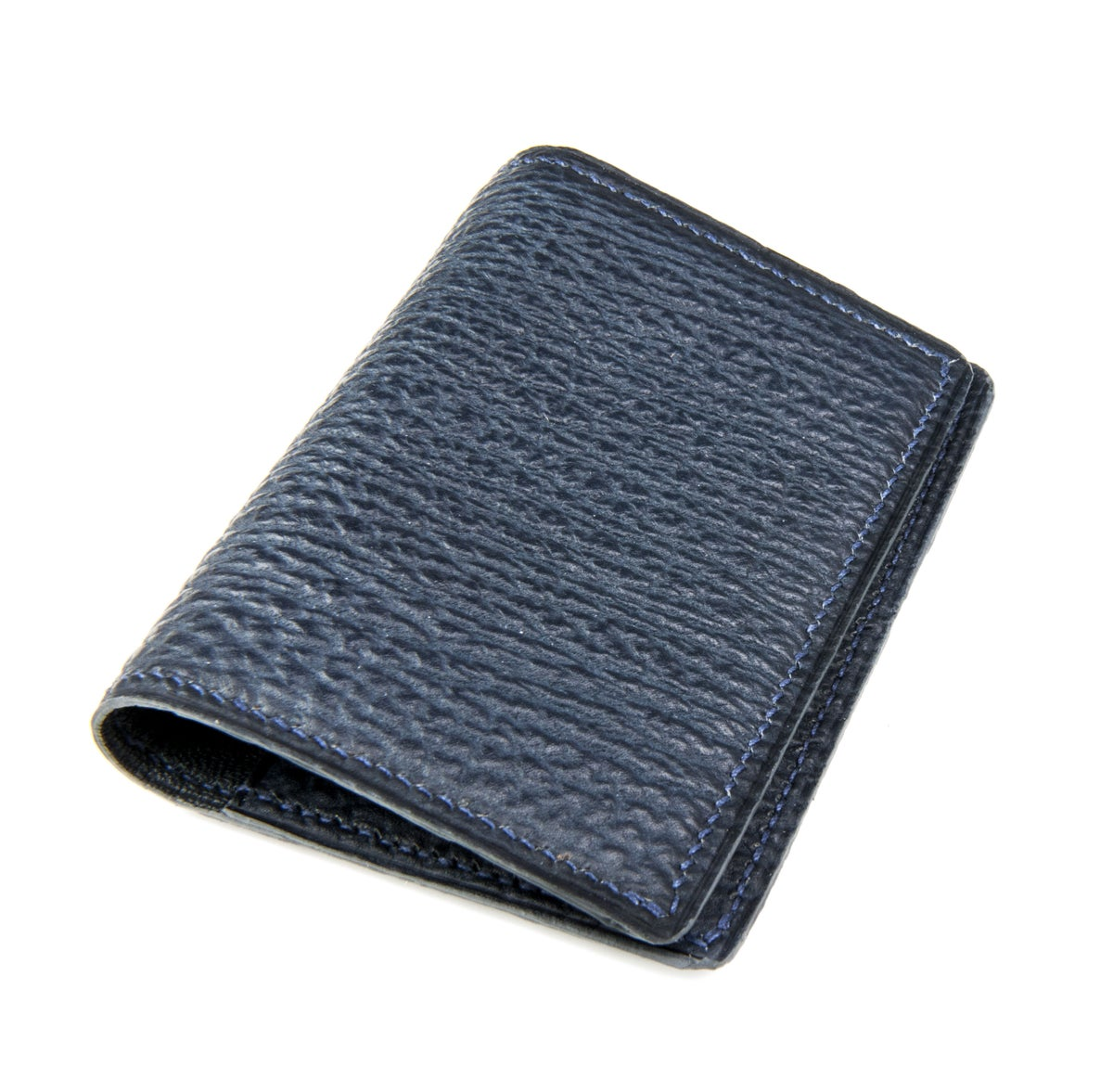 Image of Bifold n°2 - Blue shark card-holder