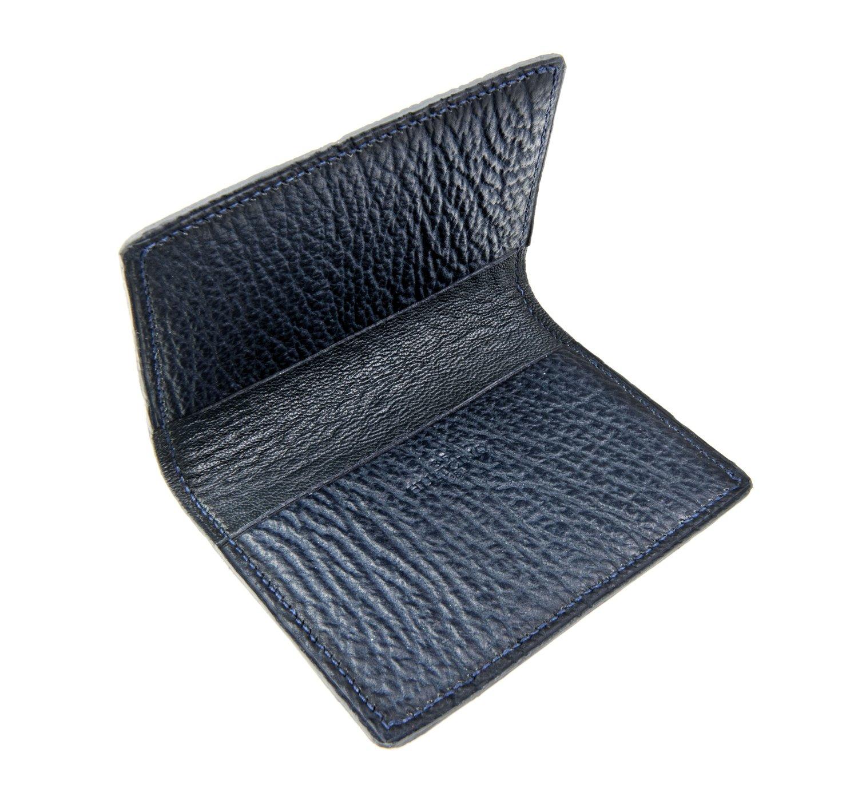 Image of Bifold n°2 - Blue shark card-holder
