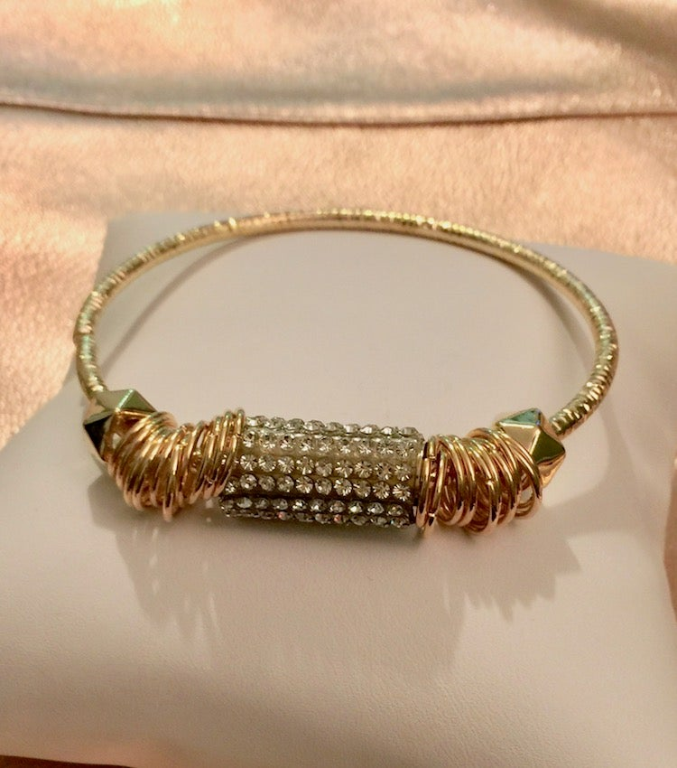 Image of Rhinestone Barrel Bangle