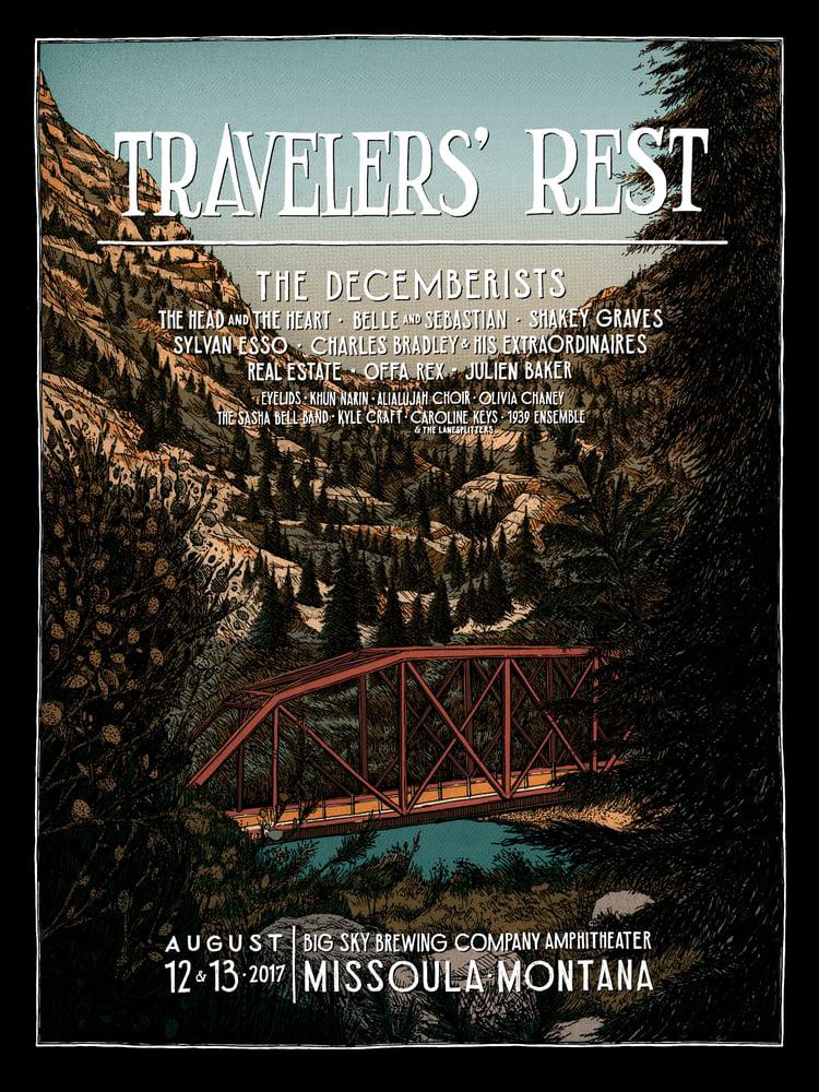 "Image of Travelers' Rest 2017 • Limited Edition Official ""Landland Variant"" (18"" x 24"")"