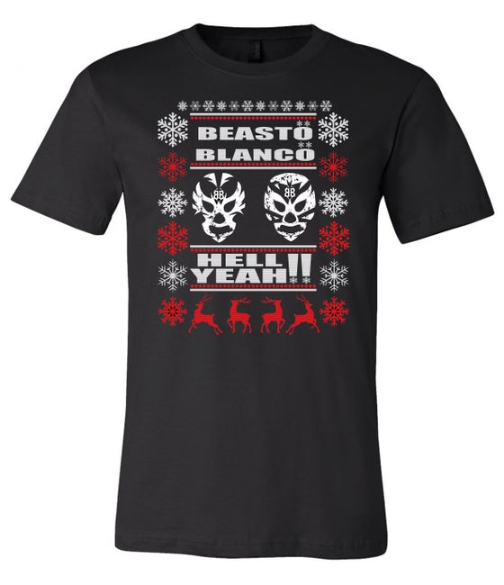 """Image of OFFICIAL - BEASTO BLANCO - LIMITED EDITION """"2018 HOLIDAY"""" UNISEX BLACK SHIRT"""