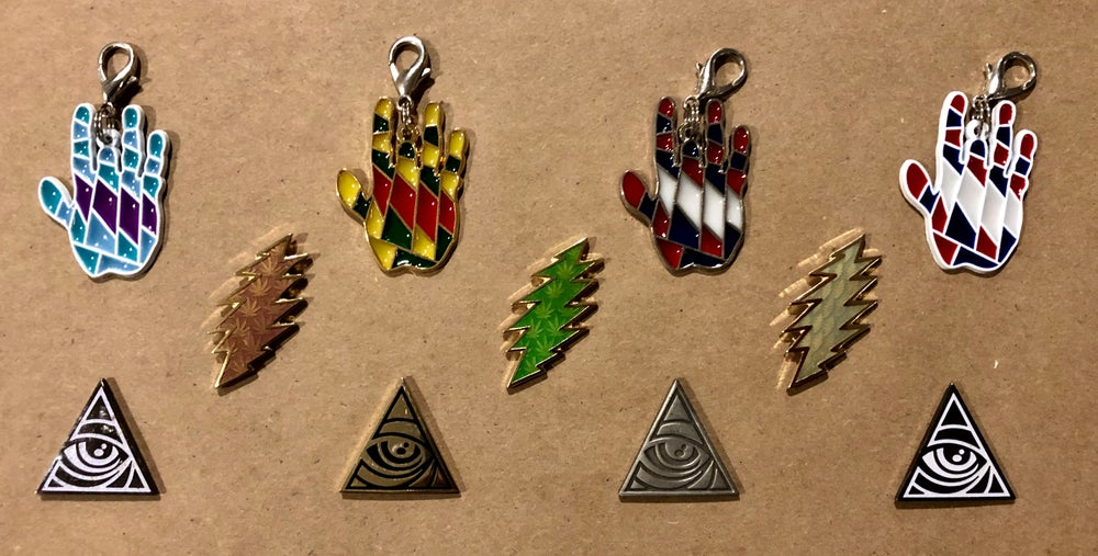 Image of $5 pins & zipper pulls!